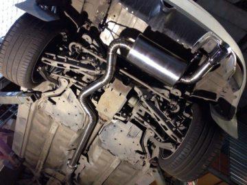 Изготовление тихой и производительной выхлопной системы из нержавейки 76мм, глушитель изготовлен на заказ.